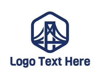Long - Iron Bridge logo design