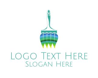 Canvas - Natural Brush logo design