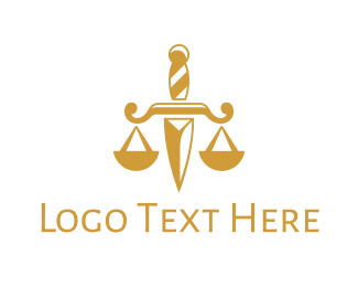 Law Enforcer - Dagger Law logo design