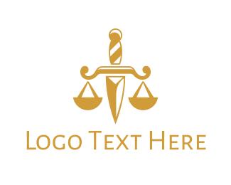 Law - Dagger Law logo design