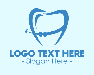 Braces - Orthodontist Dental Tooth Braces logo design