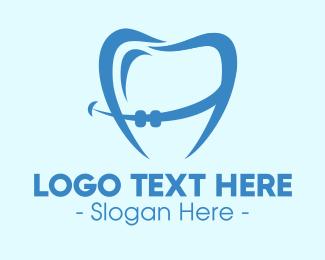 Orthodontist - Orthodontist Dental Tooth Braces logo design