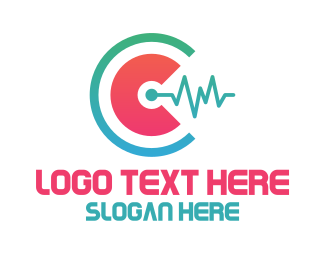 Crooked - Modern Media C Monogram logo design