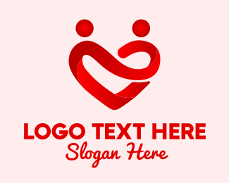 Date - Red Valentine Dating App logo design