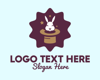 Rabbit - Magic Rabbit Hat logo design