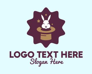 Hat - Magic Rabbit Hat logo design
