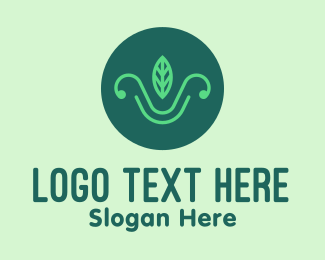 Organic Product - Green Organic Leaf logo design
