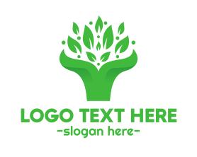Bouquet - Green Leaf Bouquet logo design