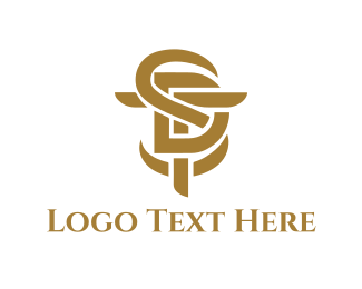Golden - SDT Lettermark logo design