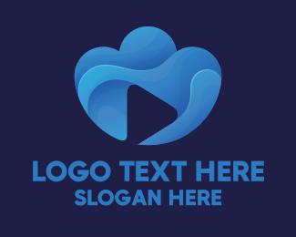 Channel - Cloud Video Media Play logo design