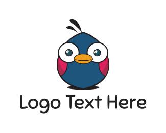 Kids - Cute Bird logo design