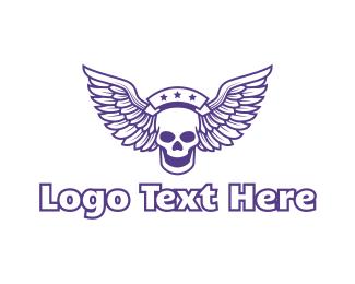 Corps - Star Skull Wing logo design
