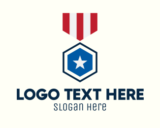 Medal Of Valor - Stars And Stripes Medal logo design