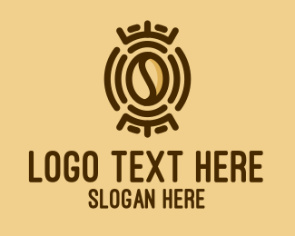 Tribal - Tribal Coffee Bean logo design