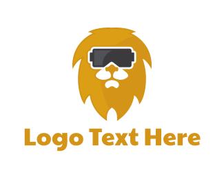 Vr - Lion VR logo design
