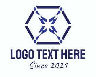Design - Blue Hexagon Design  logo design