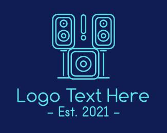 System - Sound System Music Studio  logo design