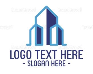 Department - Blue Stroke Building logo design