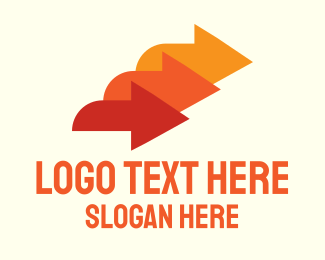 Load - Orange Logistic Service Arrows logo design