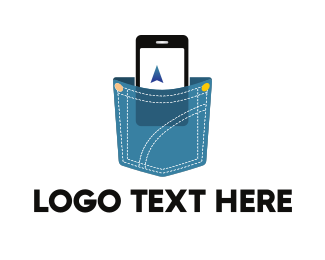 Mobile - Phone & Pocket logo design