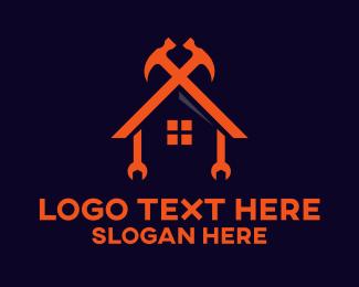 Carpentry - Tool House logo design