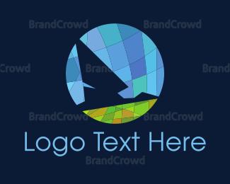 Wanderlust - Bird Mosaic logo design
