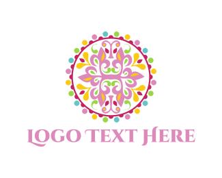 Mandala - Pink Mandala logo design