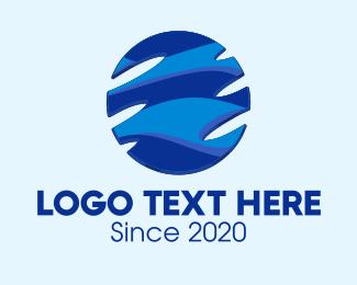 Company - Blue Abstract Globe logo design