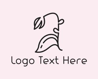 Black - Black Flower logo design