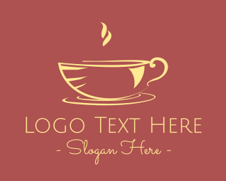 Hot Coffee Mug Logo