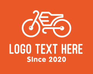 Mtb - Modern Orange Bike logo design