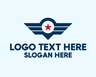 Pilot Training - Star Wings Emblem logo design