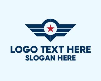 Pilot - Star Wings Emblem logo design