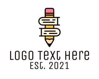 Learning - Pencil Learning Book logo design
