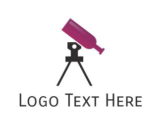 Telescope - Wine Telescope logo design