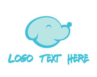 Dog Walking - Dog Cloud logo design