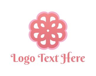 Pink Feminine Flower Logo