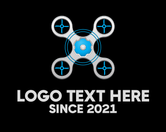 Blue And Gray - Blue Grey Drone logo design