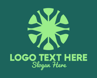 Ecofriendly - Green Circle Star logo design