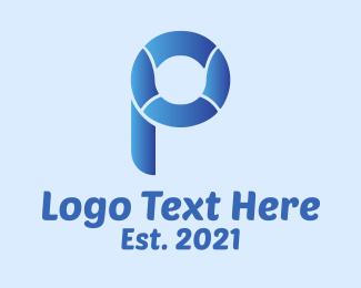 Lifeguard - Rescue Buoy Letter P logo design