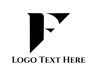 Showroom - Black Letter F logo design