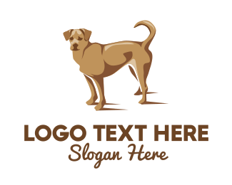 Brown Dog - Brown Pet Dog logo design