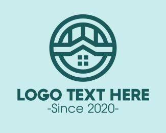 Roofing Service - Realty House Emblem logo design