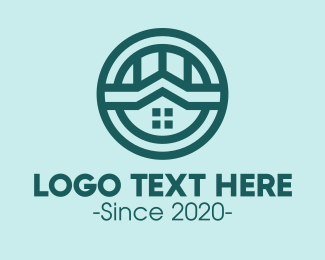 Residence - Realty House Emblem logo design