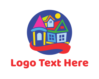 Homestead - Colorful Toy House logo design