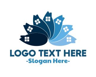 Real Estate Flower Logo