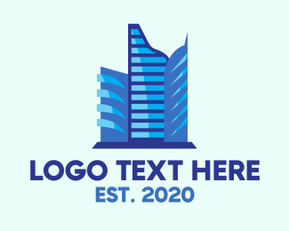 Corporation - Blue Corporate Building logo design