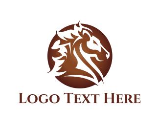 Brown Horse  Logo