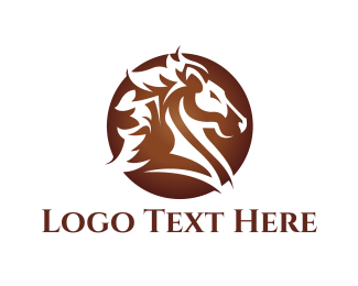 Pegasus - Brown Horse  logo design