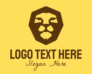 Orange Lion - Safari Lion Head logo design
